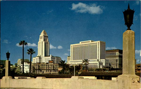 Los Angeles Civic Center Skyline California