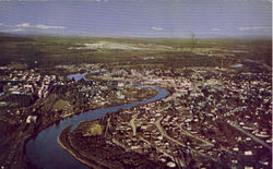 Fairbanks From The Air Postcard