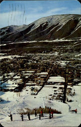 Skiers Eye View Of The Town Of Aspen