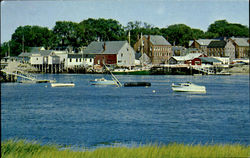 Quaint Harbor Scene