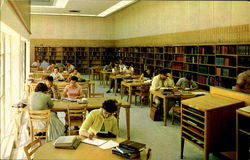 Portion Of Library Reading Room, North Florida Junior College Postcard