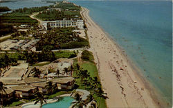 Aerial View Of Beautiful Lantana Beach Postcard