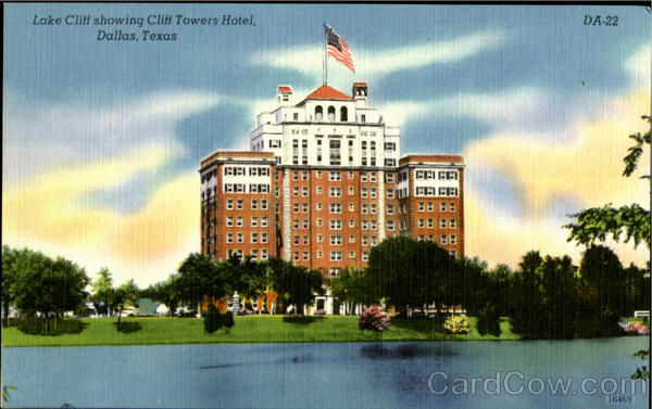 Lake Cliff Showing Cliff Towers Hotel Dallas Texas
