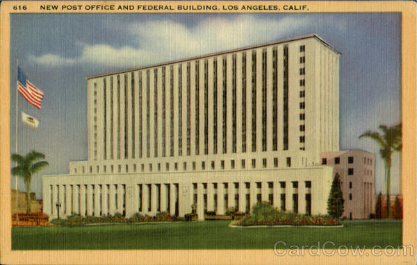 New Post Office And Federal Building Los Angeles California