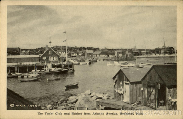 The Yacht Club And Harbor From Atlantic Avenue Rockport Massachusetts