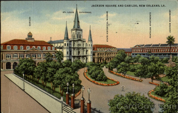 Jackson Square And Cabildo New Orleans Louisiana