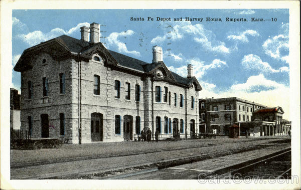 Santa Fe Depot And Harvey House Emporia Ks