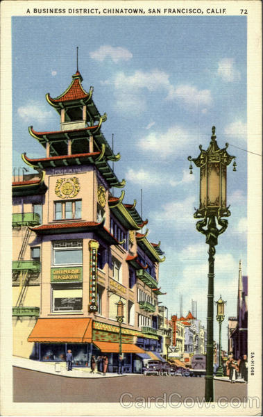 A Business District, Chinatown San Francisco California