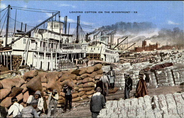 Loading Cotton On The Riverfront Black Americana
