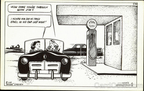 C90 Ethyl Gasoline Station Comic, Funny