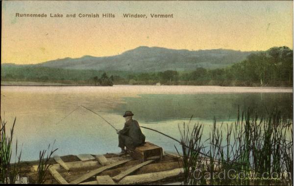 Runnemede Lake And Cornish Hills Windsor Vermont