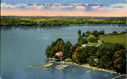 Aerial View Of Clark Lake Yacht Club