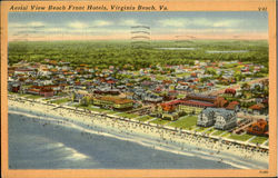 Aerial View Beach Front Hotels Postcard