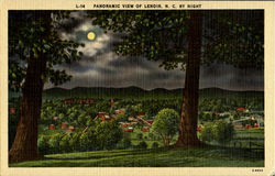 Panoramic View Of Lenoir N.C. By Night