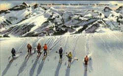 Skiing On Mazama Ridge, Rainier National Park