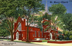 St. Mary's Church, 338 West Washington St Postcard