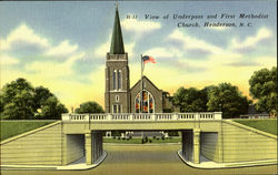 View Of Underpass And First Methodist Church