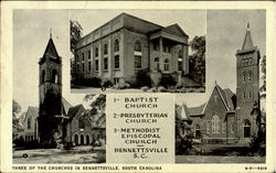 Three Of The Churches In Bennettsville