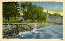 St. James Episcopal Church And Shoreline Of Skaneateles Lake Postcard