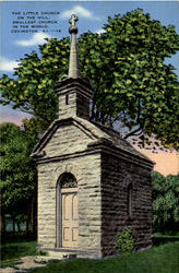 The Little Church On The Hill Postcard