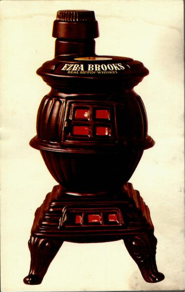 Ezra Brooks Pot Bellied Stove Advertising