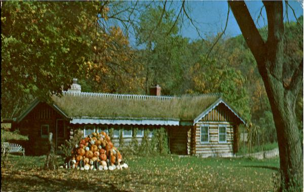 Sod Roof Cabin, Little Norway Blue Mounds Wisconsin