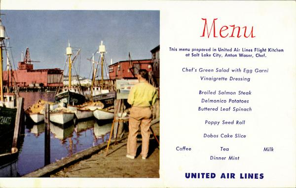 United Menu The Fishing Fleet At Gloucester Harbor Massachusetts