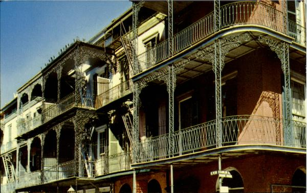 Lace Balconies, St. Petr Street New Orleans Louisiana