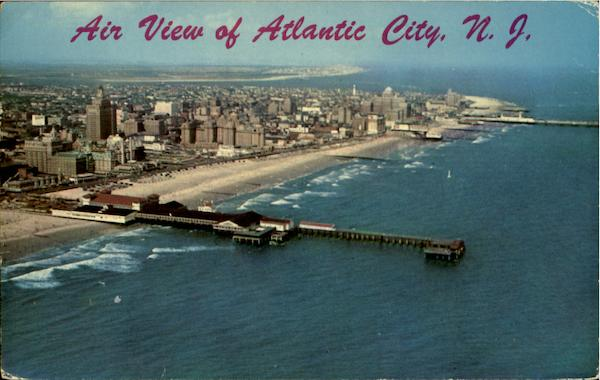 Air View Of Atlantic City New Jersey