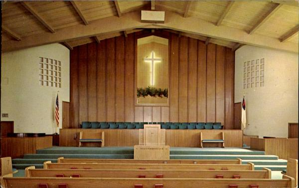 Interior Of First Baptist Church Oceanside California