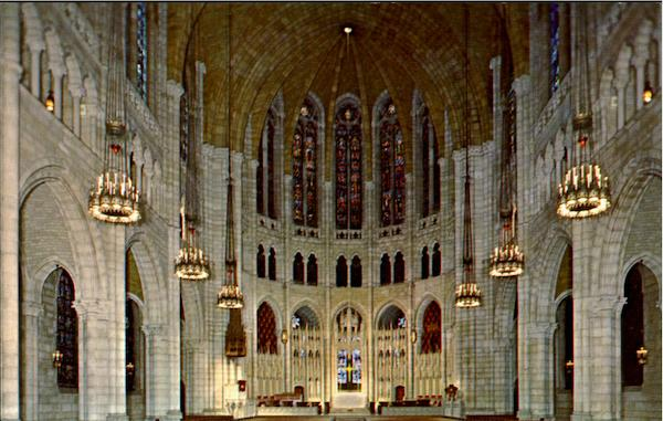 The Nave Riverside Church, 122nd Street New York City