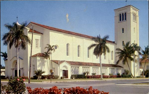 Beautiful St. Anthony's Catholic Church, N. E. 2nd Street Ft. Lauderdale Florida