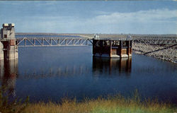 Outlet Tower And Morninglory Kingsley Dam, Lake McConaughy