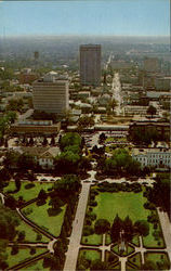View Of Downtown Baton Rouge From The Top Of The State Capitol