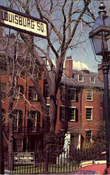 Historic Louisburg Sq, Beacon Hill Postcard