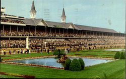The Finish Kentucky Derby Postcard