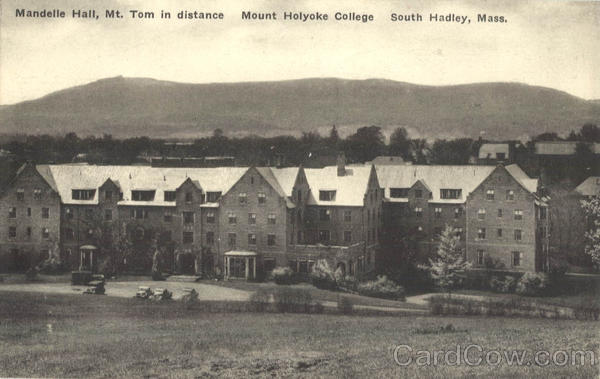 Mandelle Hall, Mt. Tom in distance, Mount Holyoke College South Hadley Massachusetts