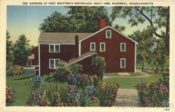 The Gardens at Poet Whittier's Birthplace Haverhill Massachusetts