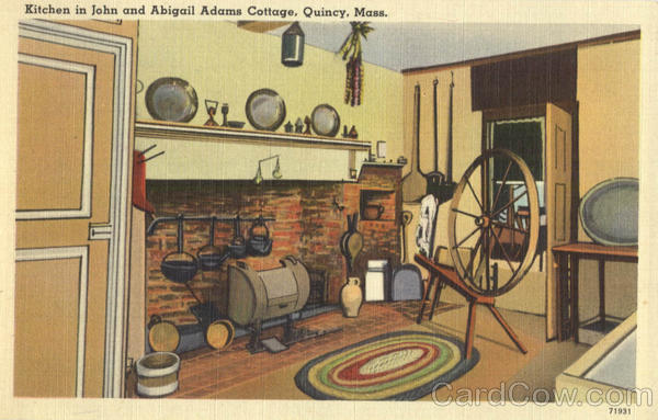 Kitchen in John and Abigail Adams Cottage Quincy Massachusetts