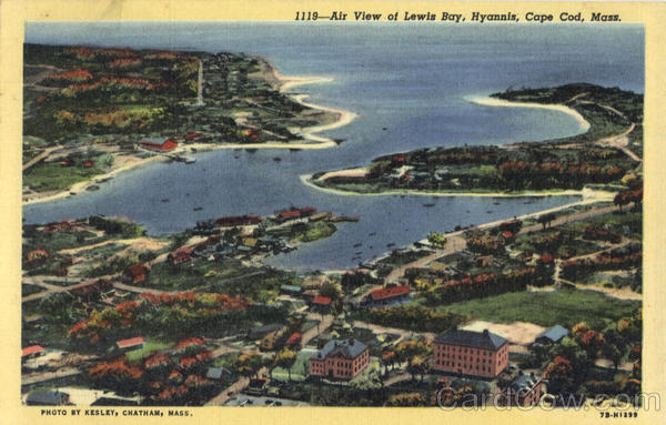 Air View of Lewis Bay, Hyannis Cape Cod Massachusetts