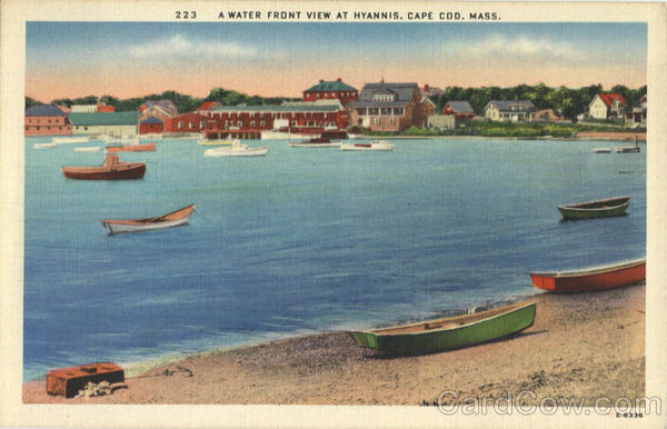 A Water Front View at Hyannis Cape Cod Massachusetts