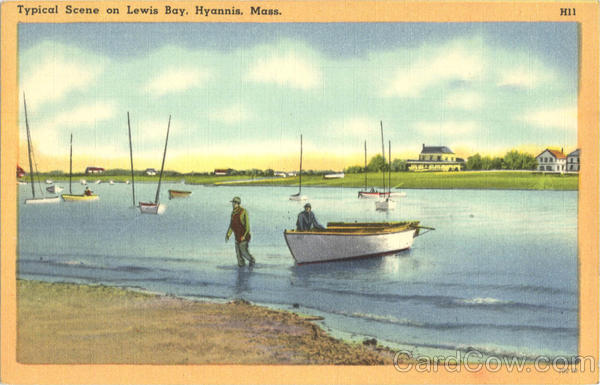 Typical Scene on Lewis Bay Hyannis Massachusetts