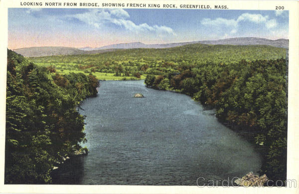Looking North From Bridge, Showing French King Rock Greenfield Massachusetts