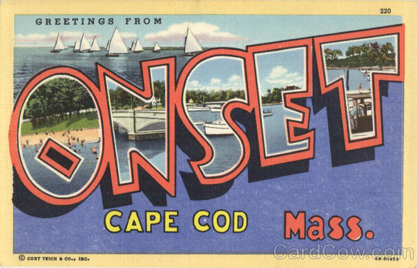 Greetings from Onset Cape Cod Massachusetts Large Letter