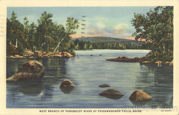 West Branch of Penobscot River at Passamagomoc Falls Maine