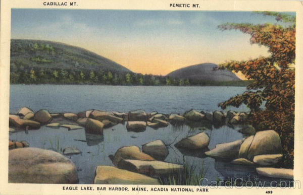 Cadillac Mt., Pemetic Mt., Eagle Lake, Bar Harbor Acadia National Park Maine