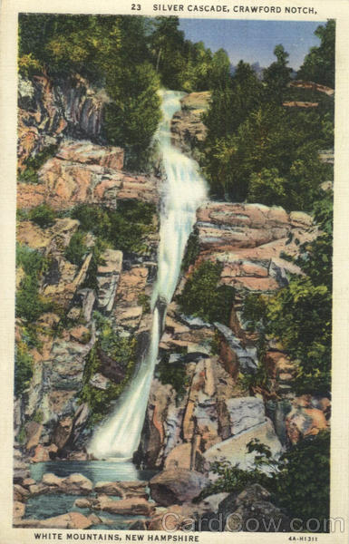 Silver Cascade, Crawford Notch White Mountains New Hampshire