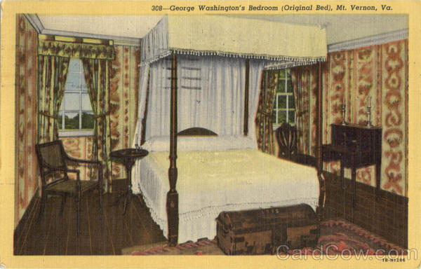 George washington39s bedroom original bed mount vernon va for Bedroom furniture sets george