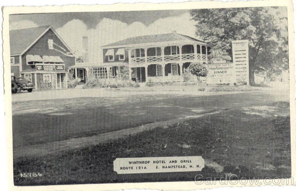 Winthrop Hotel and Grill, Route 121A East Hampstead New Hampshire