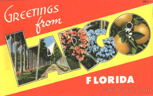Greetings from Largo Large Letter Florida